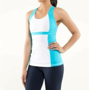 Lululemon run fast track tank blue/white free bag